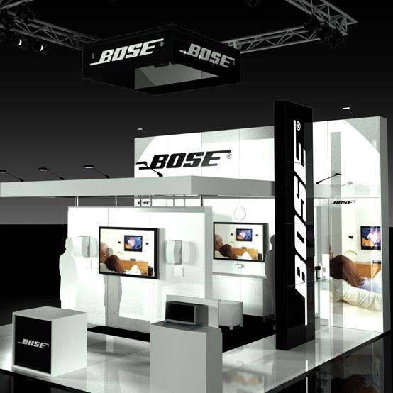 Exhibition Stand White : Bose tenzerotwo